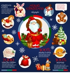 Merry Christmas holiday infographics design vector