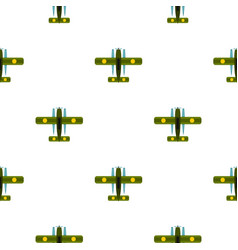 Military biplane pattern flat vector