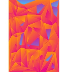 orange blue abstract polygonal background vector image