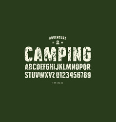 Original sans serif font bold face vector