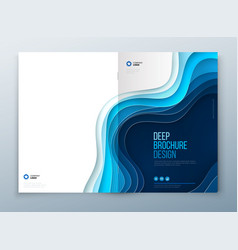Paper cut brochure design paper carve abstract vector