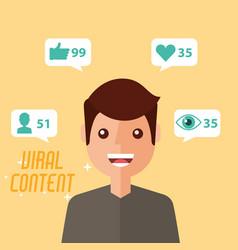 Portrait man viral content vector