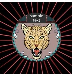 Portrait of a leopard vector