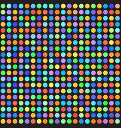 Rainbow polka dot pattern seamless background vector