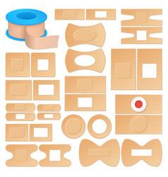 Realistic adhesive plasters set vector
