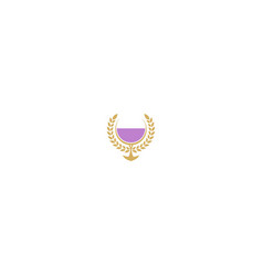 royal wine glass logo vector image
