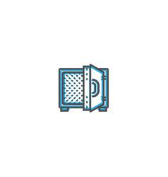 safe box icon line design business icon vector image