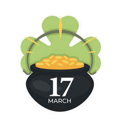 saint patrick day irish holiday gold coins in vector image