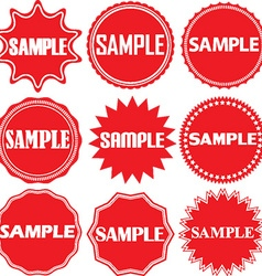 Sample signs set Sample sticker set vector