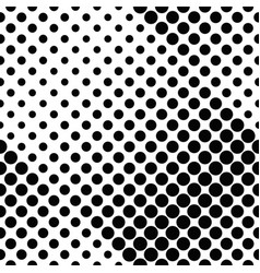 seamless black and white abstract dot pattern vector image
