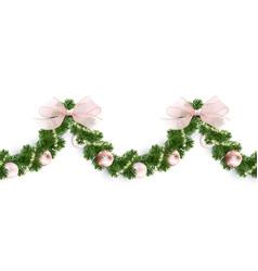 seamless horizontal pattern christmas garland vector image