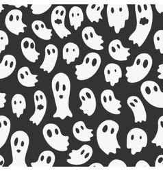 seamless pattern with ghosts vector image