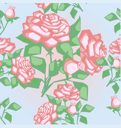 seamless texture with roses vector image vector image