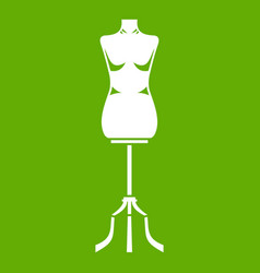 sewing mannequin icon green vector image