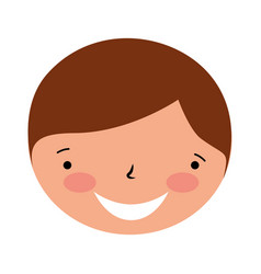 smiling face boy on white background vector image