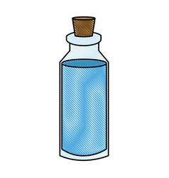 Spa bottle essencial oil treatment aroma vector