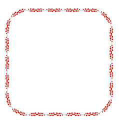 square frame with holly berry branch border fo vector image