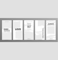 story template for social media vector image