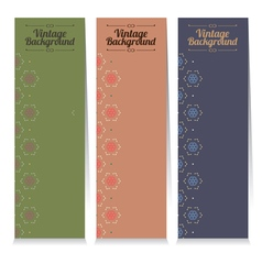 Three Vintage Oriental Style Vertical Banners vector image