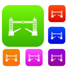 Tower bridge set collection vector