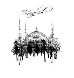 Turkey istanbul - hand drawn set vector