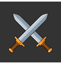 Two Crossed Swords Icon vector