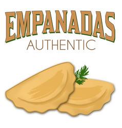 Two empanadas on a white background vector