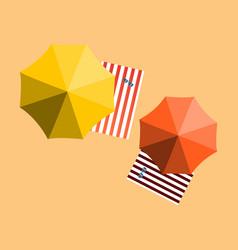 Vacation and travel concept beach umbrella beach vector