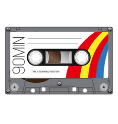 vintage audio cassette tape vector image