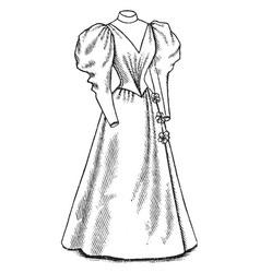 Waterproof coat is designed vintage engraving vector