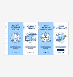 Work at home rules onboarding template morning vector