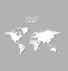 world map in grayscale color silhouette vector image