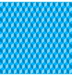 Blue 3D Cubes Abstract Seamless Background vector image