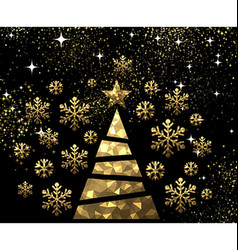 New Year background with Christmas tree vector image vector image