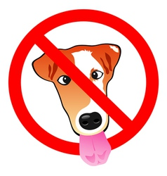 Stop dog vector image