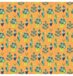Background with green trees vector image vector image