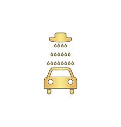 Car wash icon - outline computer symbol vector