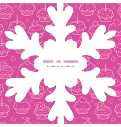 colorful cupcake party Christmas snowflake vector image vector image