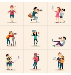 creative character design posing while vector image