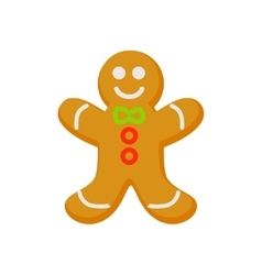 Homemade gingerbread cookie isolated on vector