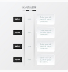 timeline template template black and white color vector image vector image