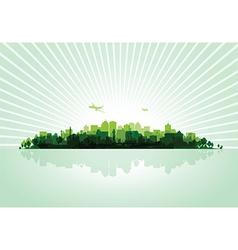 green cityscape vector image