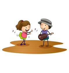 kids playing guitar vector image