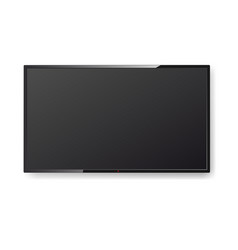 realistic tv screen hanging on the wall modern vector image