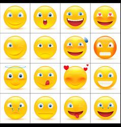 set of emoji vector image vector image