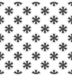 Snowflake pattern seamless vector image