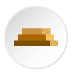 wooden boards icon circle vector image vector image