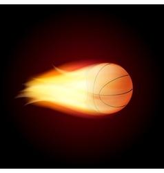 Basketball Ball On Fire vector image