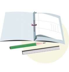 book and pencil vector image vector image