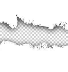 ink transparent background vector image vector image